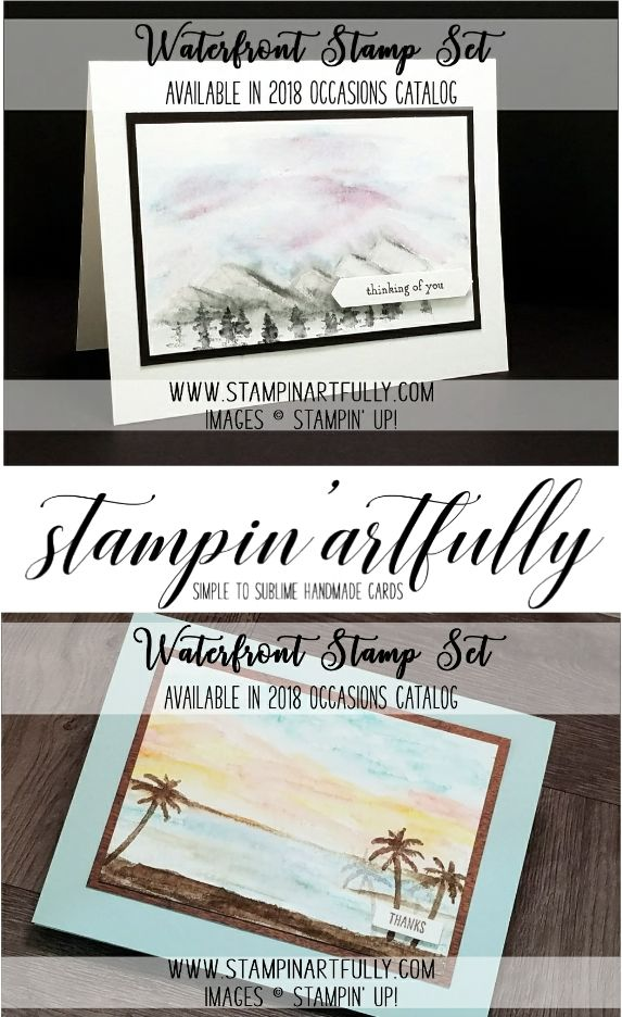 Kim Jolley's Stampin' Artfully blog...Waterfront stamp set from the 2018 Occasions catalog.
