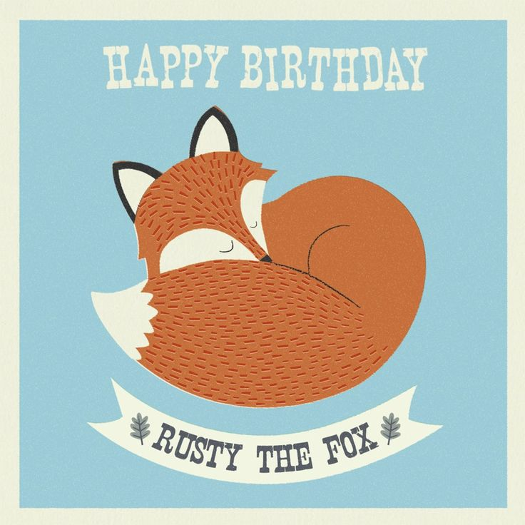 Rusty The Fox Card | DotComGiftShop