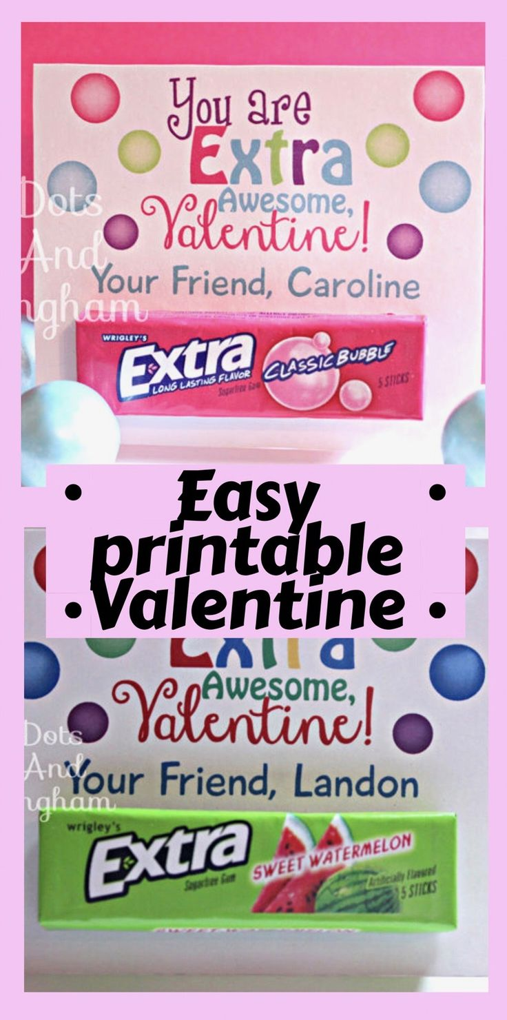 You are Extra awesome Valentine! This easy, printable Valentine is perfect for y…