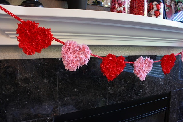 Sunny Side Up: Valentine Mantel and Tissue Art
