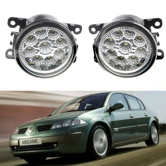 Car Accessories 1 Pair Front Bumper Led Fog Lights For Renault