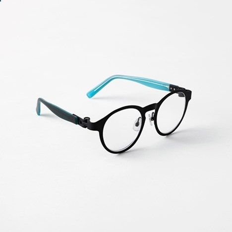 Products we like / Glases / Black an dBlue / Magnet-hinge glasses / by Nendo