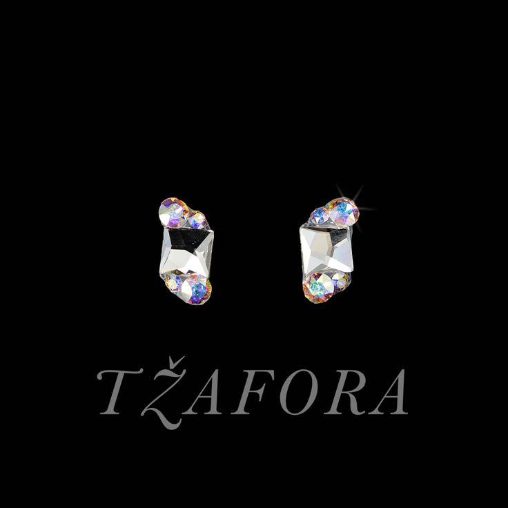 """Infinite Shine"" - Swarovski ballroom earrings. Ballroom dance jewelry, ballroom dance dancesport accessories. www.tzafora.com Copyright ©️️️️️️️ 2017 Tzafora."