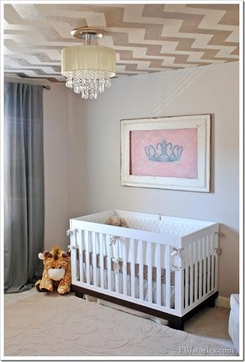 girl nursery ceiling colors