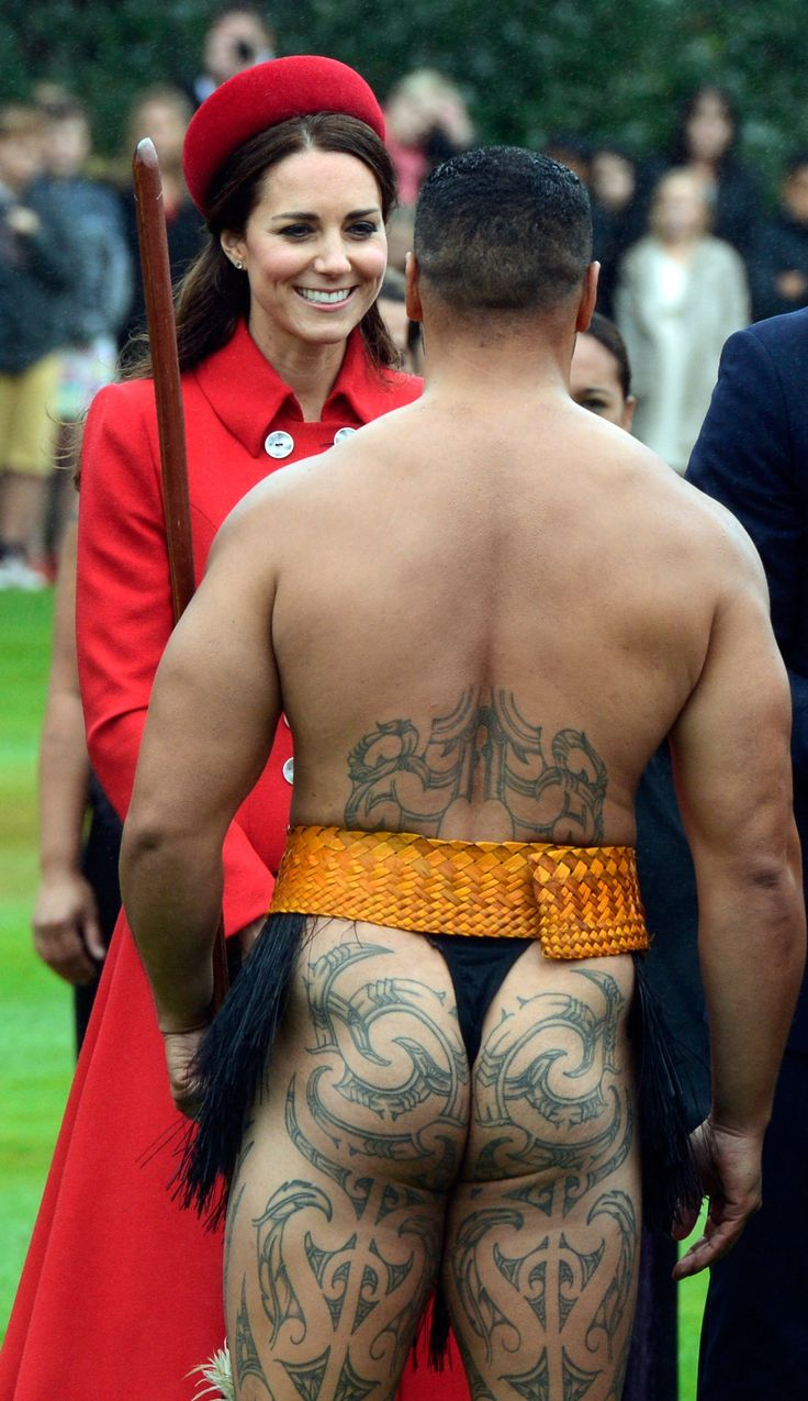 The Duchess of Cambridge was greeted by Maori warriors who later performed the traditional Haka dance as a welcome to the country.