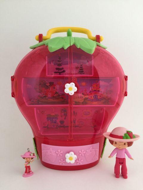 Strawberry Shortcake BERRY SWEET PLAYSET Storage Case House 2 Dolls Bandai 2004   eBay