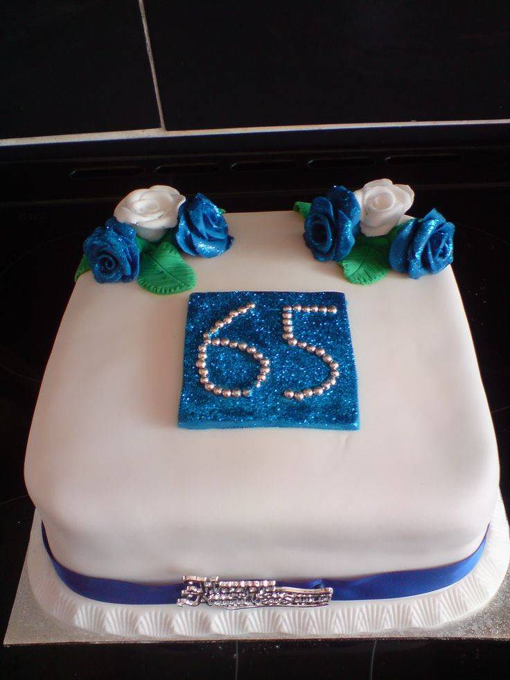 Sapphire 65th Anniversary Cake In 2019 Birthday Cake