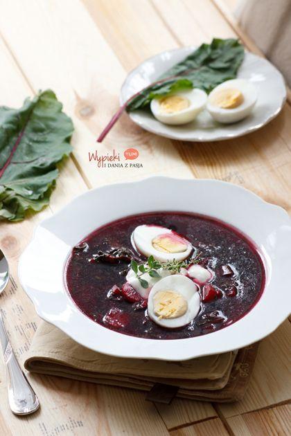 Zupa z botwinki (beet leaves soup)