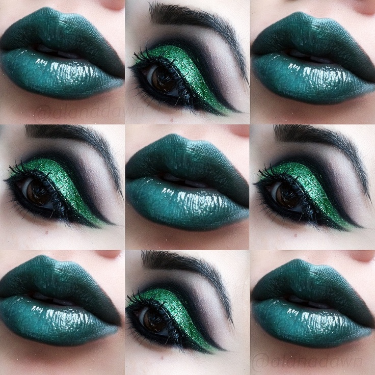 St Patricks Day inspired makeup by alanadawn    www.instagram.com/alanadawn