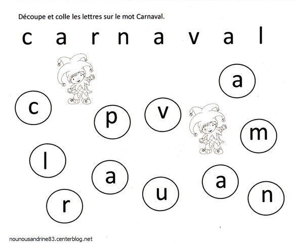 activité manuelle : carnaval