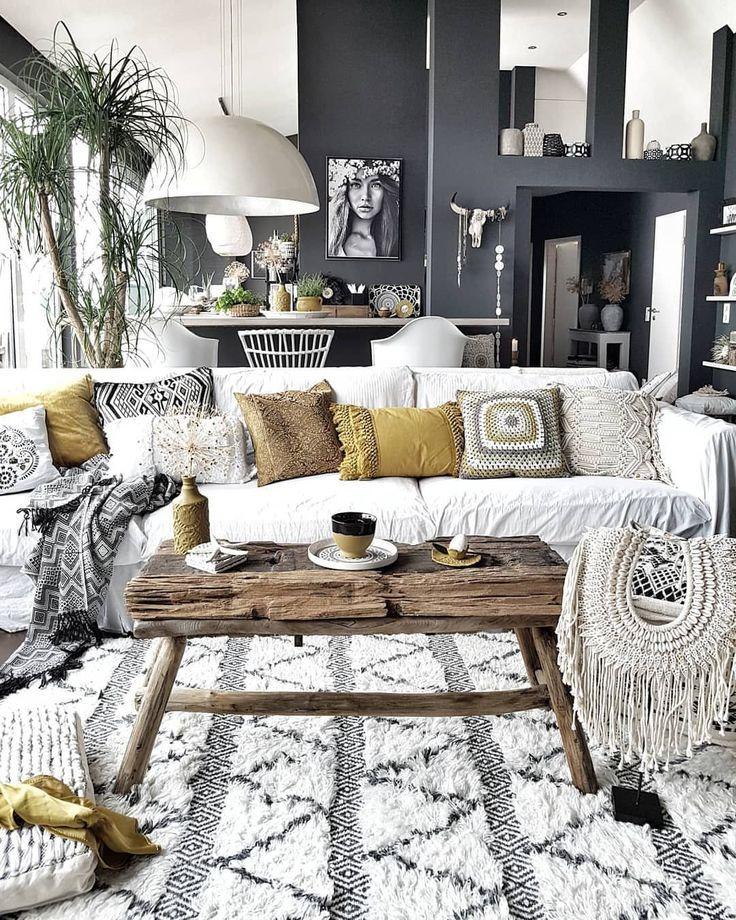 What S Hot On Pinterest 7 Bohemian Interior Design Ideas Boho Living Room Decor Chic Living Room Boho Chic Living Room