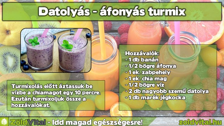 Datolyás-almás turmix recept