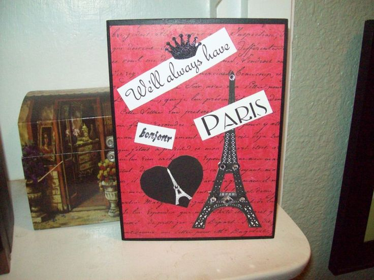 weu0027ll always have paris red eiffel tower sign block paris wall decor french chic