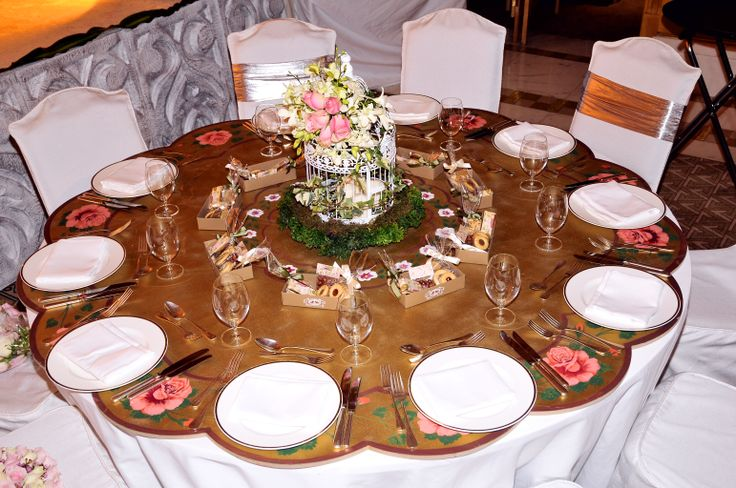 choosing the table setting, centerpieces and table wear were on the top list. however, .. attractive setting is most of the comments received