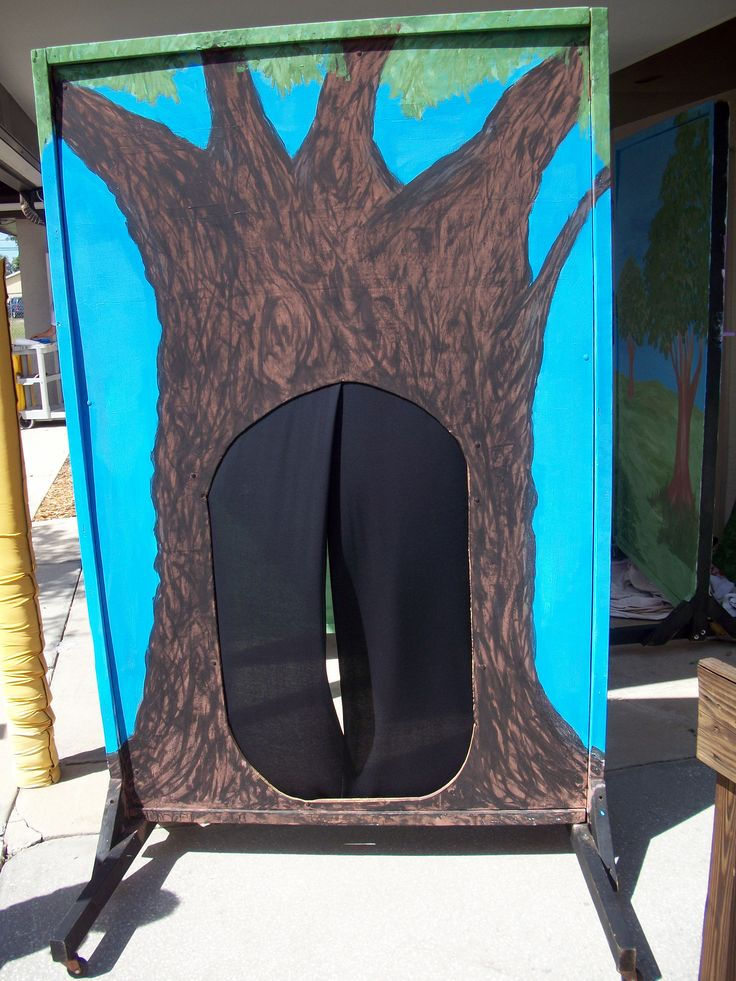 theater stage props - Backdrop for Alice in Wonderland, Jr. made by Holy Trinity Episcopal Academy