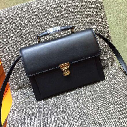 Fall/Winter 2015 Saint Laurent Bag Cheap Sale-Saint Laurent High School Satchel in Black Leather
