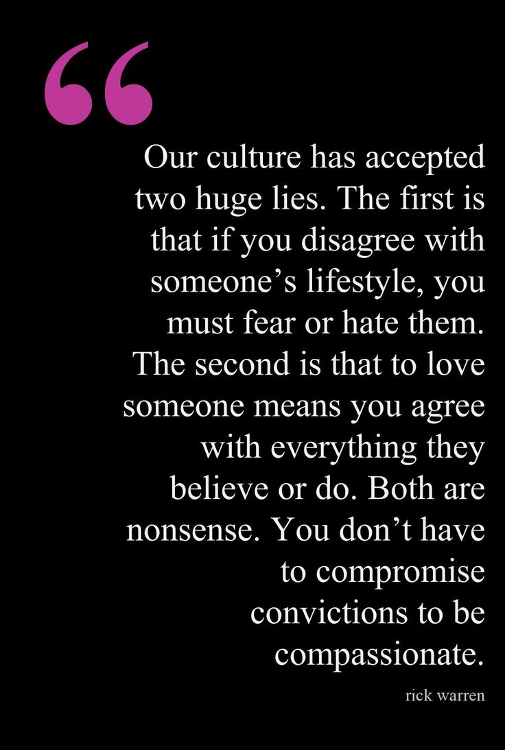 You don't have to compromise convictions.