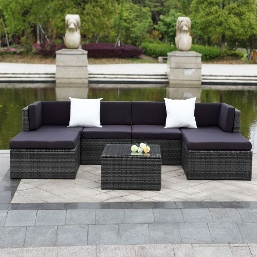 412.99$  Watch here - http://aiia9.worlditems.win/all/product.php?id=C-H0066FR-CA - IKAYAA 7PCS Cushioned Outdoor Patio Garden Furniture Sofa Set Ottoman Corner Couch Sectional Furniture Rattan Wicker