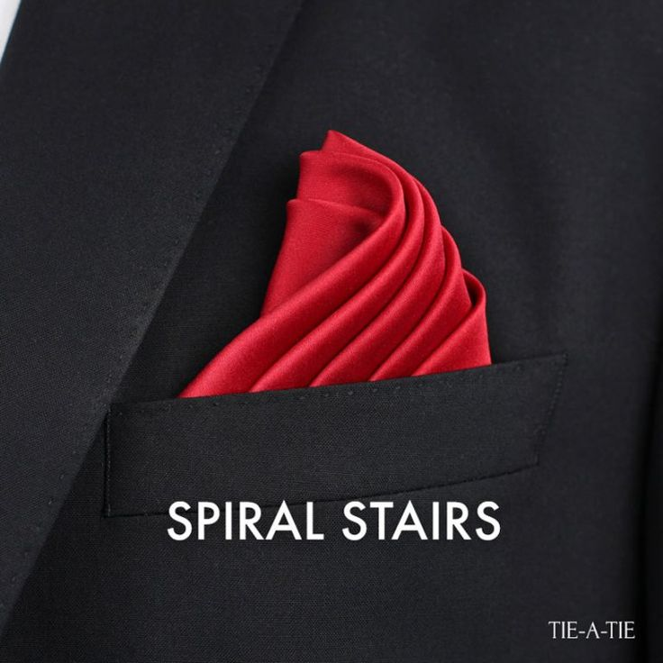 Spiral Stairs Pocket Square Fold How To #paulstyling