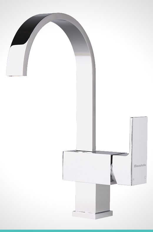 Concerto chrome side lever basin mixer