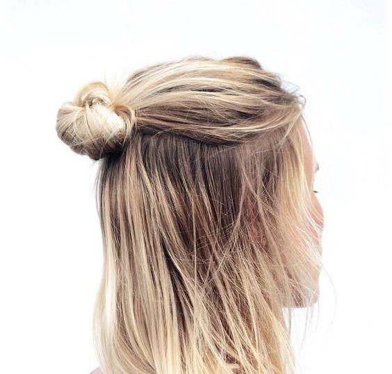10 Cute Half-Buns to Wear During Finals Week | http://www.hercampus.com/beauty/10-cute-half-buns-wear-during-finals-week
