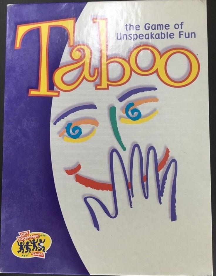 Taboo Board Game Milton Bradley 1989 Unspeakable Fun Original Edition Complete | eBay