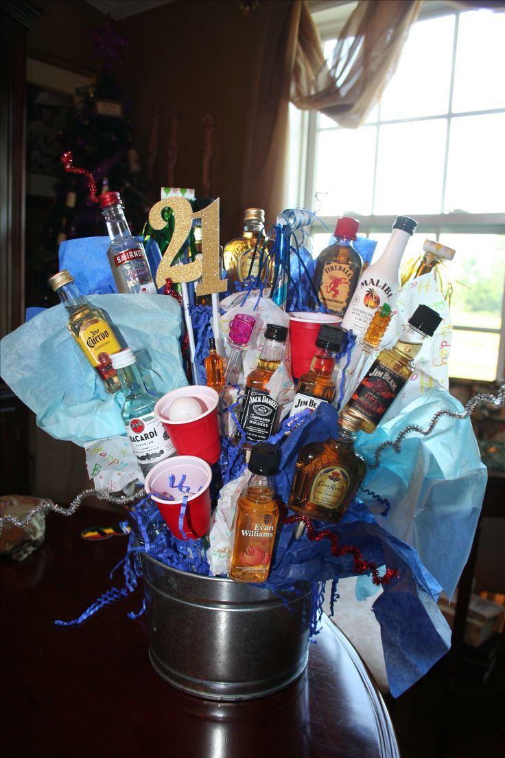 21st birthday liquor basket!