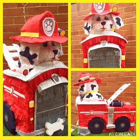 Piñata de Marshall en su camión de bomberos #PawPatrol #patrulladecachorros #Piñata #PerroBombero #bogota #piñapiñatas