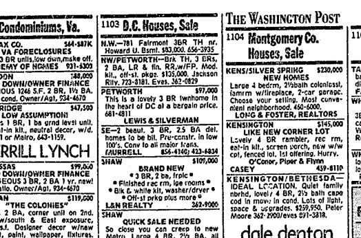 Cost of Buying a House in the District, 25 Years Ago Today - Ghosts of DC