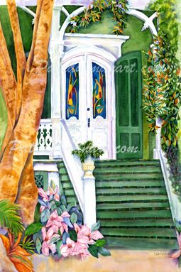 cottages and beach living paintings Conch Shell House