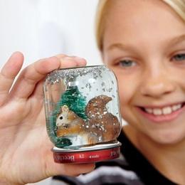 Craft a Winter Wonderland: Baby Food Jars, Winter Crafts, Jars Crafts, Winter Party, Baby Jars, Snow Globes, Winter Wonderland, Snowglob, Diy'S Christmas Decoration