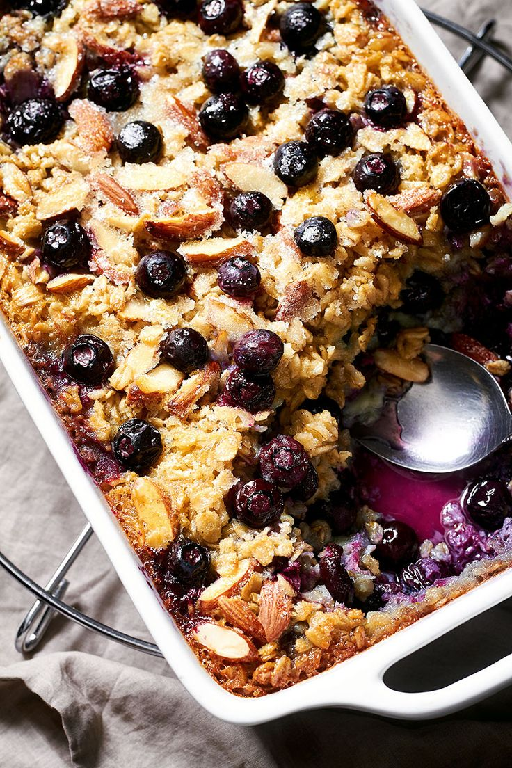 This hearty Blueberry Baked Oatmeal is the perfect satisfying breakfast for a busy morning.