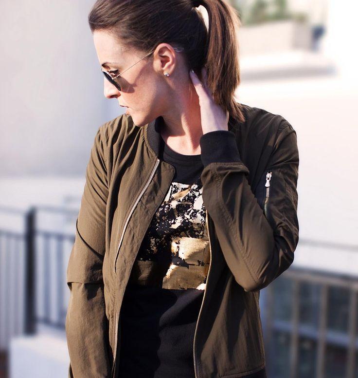 Urban Gilt Audley Black T-shirt | Urban Inspired Fashion | Free Worldwide Delivery