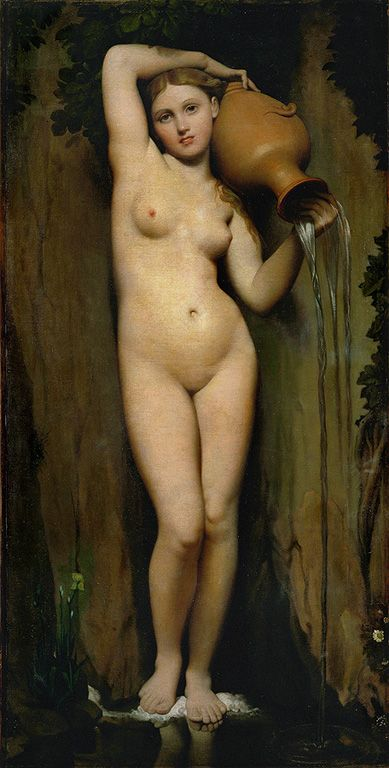 Jean August Dominique Ingres - De Bron(The Spring) - olieverf op linnen - 163 x 80 cm - 1856 - Musée D'Orsay