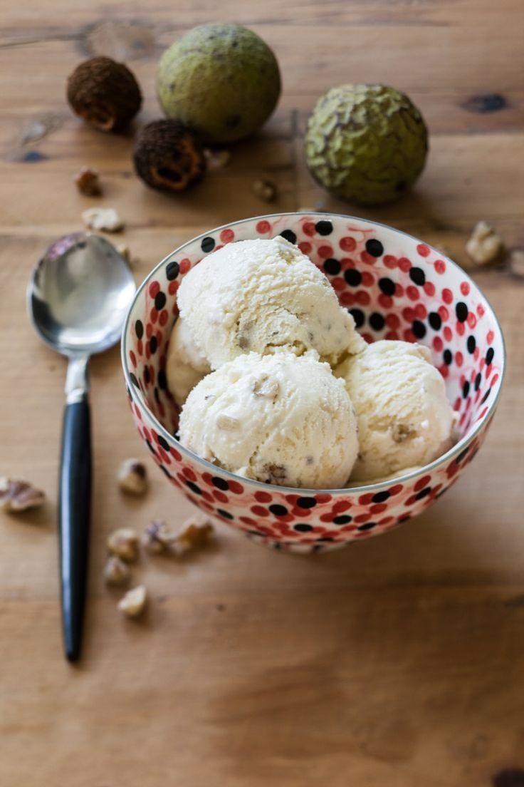 The strong flavor of black walnuts is perfect in this rich ice cream—sprinkle with sea salt for added interest.