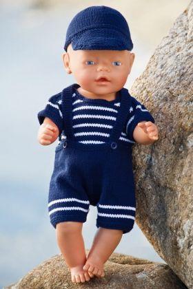 Strikkeopskrift på fint dukketøj | Strikket drengesæt til dukken | Sødt børnestrik og fint strik til baby | Lækkert strik og hækling med udførlige opskrifter | Håndarbejde