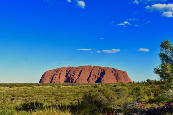 Uluru is a big red monolith in the middle of the desert. It changes colour according to the sunlight, offering spectacular sunsets and awesome sunrises.