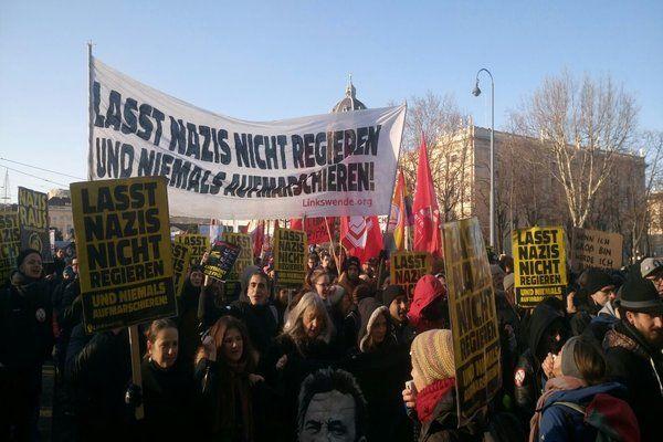 Austrian anti-fascists resist new Tory-Nazi coalition government