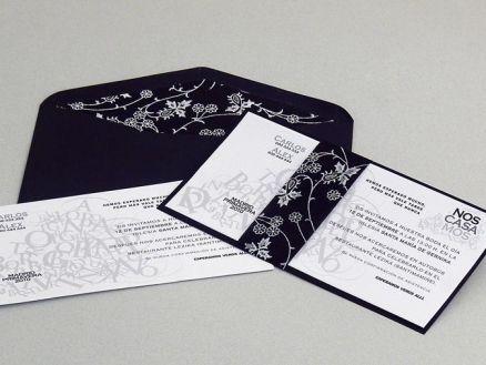 Invitación de boda - NATURAL CON FORRO FLORECITAS