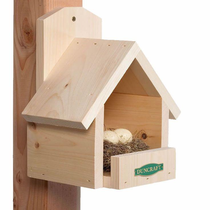 Duncraft 3020 Cardinal Bird House Yard Garden Bird House Bath Feeder