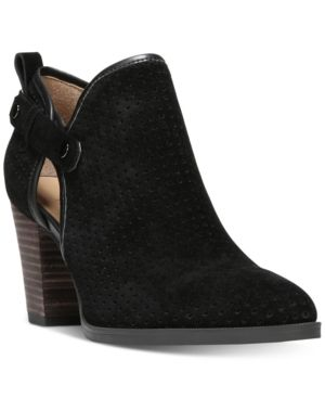 Franco Sarto Dakota Perforated Ankle Booties - Black 7M