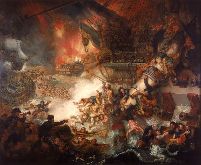 Mather Brown - Battle of the Nile - French ship Orient (1791) - Wikipedia, the free encyclopedia