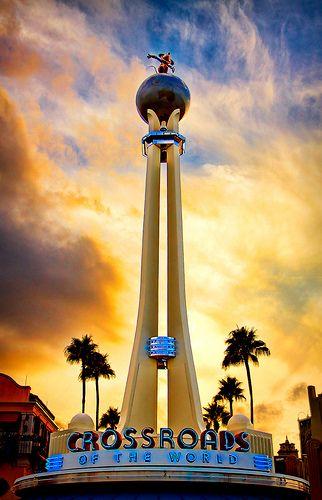 Sunset on the Crossroads, Disneys Hollywood Studios, Mickey Mouse, Walt Disney, Disney Photography, Walt Disney World, Orlando Florida, Disney, Love, Design, Inspiration, ideas, Studio2719.com
