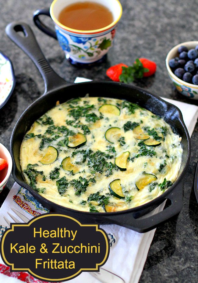 My Kale & Zucchini Frittata recipe. I loved how easy it was to make and what a healthy start to the morning it is! Give it a whirl, you'll love it!