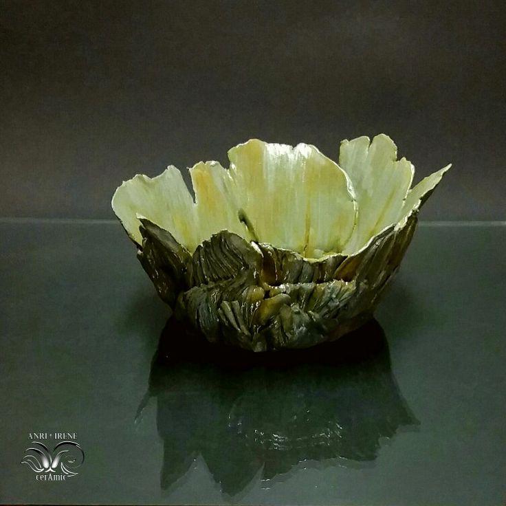 "Ceramic vase ""Bark of tree"", handmade ceramics. Ceramic planter."