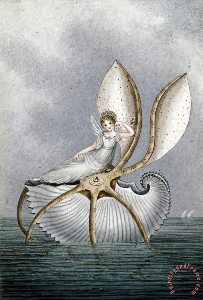 A Fairy Resting on a Shell  - Amelia Jane Murray