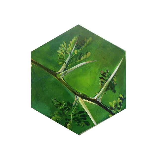 Green #hexagon #painting