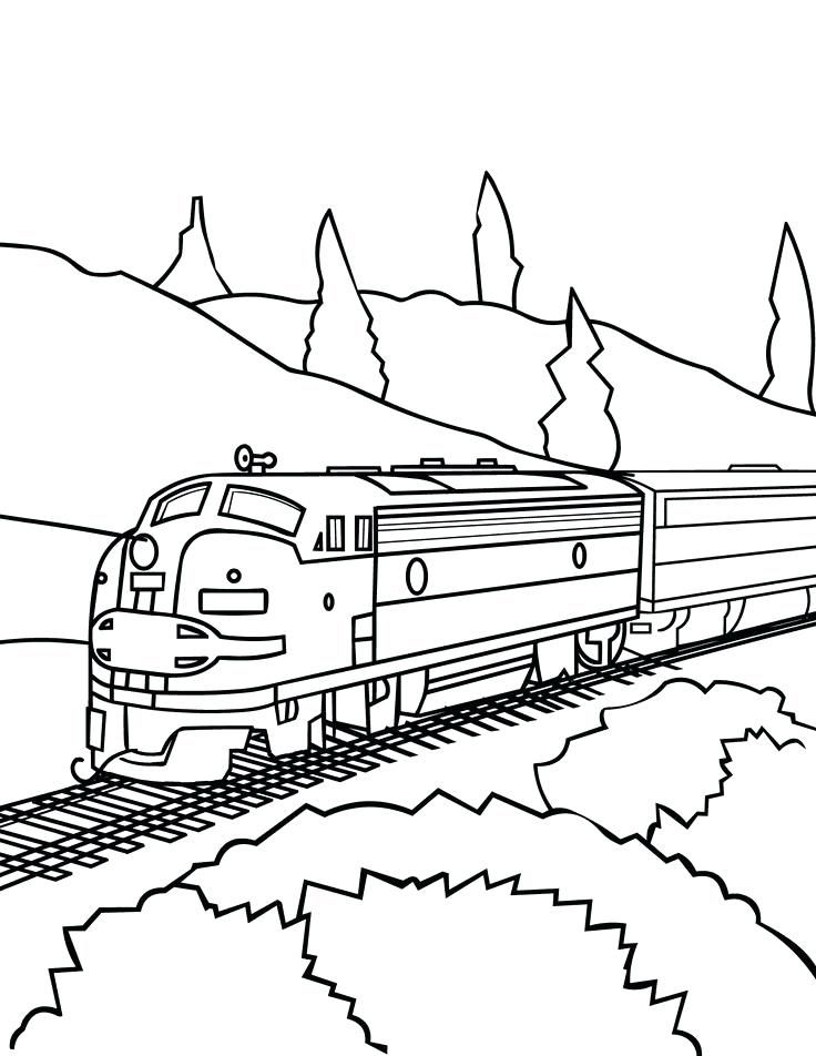 Coloring Pages Of Trains Best Dream Train Drawing Images On 4 Kids