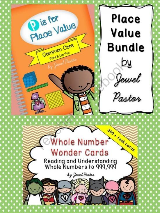 Whole Number Wonder Cards   P is for Place Value - Engage your students with a variety of activities through the Place Value Bundle. Composed of almost 400 task cards, worksheets, games, 'I Can' statements and anchor charts, this Place Value Bundle will surely be enjoyed by you and your students..  A GIVEAWAY promotion for PLACE VALUE BUNDLE (COMMON CORE ALIGNED) from Jewel Pastor on TeachersNotebook.com (ends on 10-31-2014)