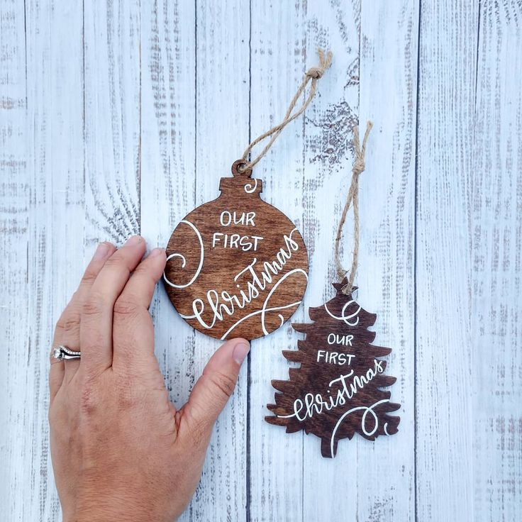 "I have wanted to make an ""Our First Christmas"" ornament since Sean (my husband) …"